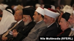 رجال دين في مؤتمر ديني برعاية الأزهر في القاهرة