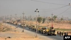 Иракская военнаят техника в 80 километрах от Мосула