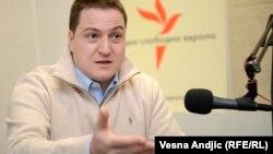 Branko Ružić tokom intervjua za RSE, foto: Vesna Anđić