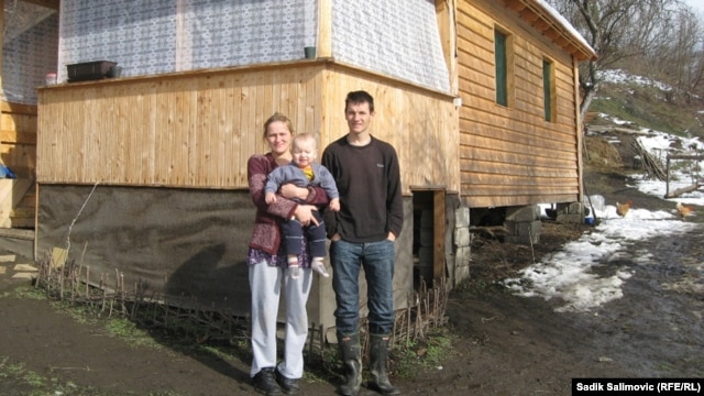 The couple set up house in a home built for them by an Austrian charity.