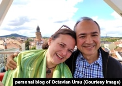 ROMANIA - Octavian Ursu, mayor of Goerlitz, together with his wife