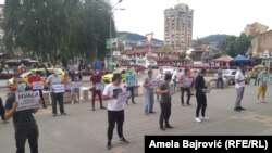 Protest u Novom Pazaru, 05.07.2020.