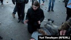 Մոսկվա, Մանեժնայա հրապարակ, 11-ը դեկտեմբերի, 2010թ.
