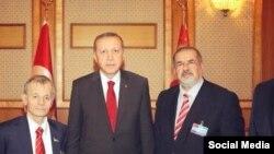Президент Турции на встрече с лидерами крымско-татарской общины, 23 марта 2015 года