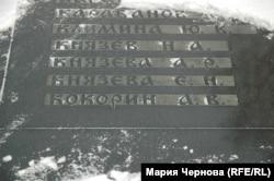Мемориальная плита с фамилиями погибших в авиакатастрофе в Иркутске-2