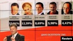 Виступ Петра Порошенка після оголошення результатів екзит-полів на виборах президента України