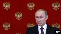 President Vladimir Putin in Moscow on April 11