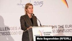 В первой половине дня Федерика Могерини приняла участие в международной конференции по гендерному равноправию, а затем встретилась с представителями грузинских НПО