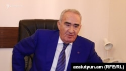 Armenia - Former parliament speaker Galust Sahakyan speaks to RFE/RL in Yerevan, 14Sep2017.