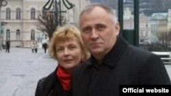 Марына Адамовіч і Мікола Статкевіч, архіўнае фота