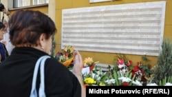 Obeležavanje godišnjice ubistva 43 građana Sarajeva na Markalama u avgustu 1995. godine