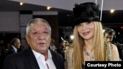Гульнара Каримова с известным киноактером Мурадом Раджабовым.