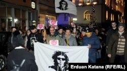 """Protesta šetnja grupe """"Pravda za Davida"""", Banjaluka, decembar 2019."""