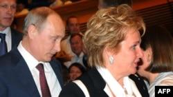 Vladimir Putin dhe gruaja e tij Lyudmila.