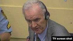 Ратко Младич на заседании Международного трибунала по бывшей Югославии