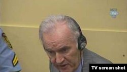 Ratko Mladic in court in October