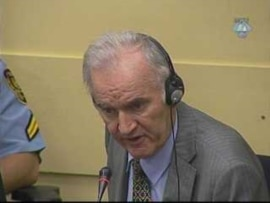 Ratko Mladic in an early October appearance before the International Criminal Tribunal for the former Yugoslavia