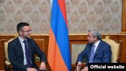 Serzh Sargsyan və Kristian Vigenin