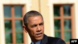 Prezident B.Obama ABŞ-nyň Siriýa babatda harby çäre görmek pirikini nygtady. 6-njy sentýabr, 2013.