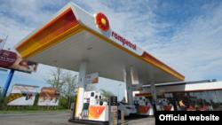Одна из сети заправок Rompetrol в Румынии. Rompetrol - торговая марка группы KMG International.