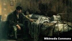 """Картинa Кристобаля Рохаса """"Бедность"""",1886"""