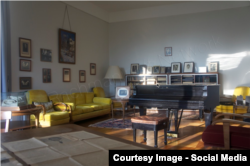 """Studioul cu pian din Vila """"Senar"""" (Foto: Rachmaninoff network/Facebook)"""