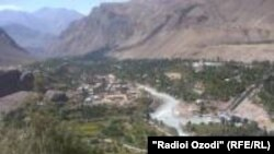 Tajikistam,Badakhshon province, a view of Khorugh city administration capital of Badakhshon province,24July2012