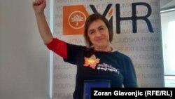 Staša Zajović na dodeli nagrade