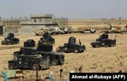 Войска Ирака на окраине Киркука. 15 октября 2017 года