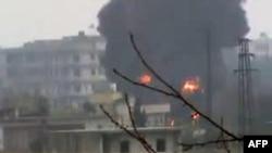 Бои в одном из городов в центральной Сирии