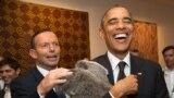 Австралиянын премьер-министри Тони Эббот менен АКШ президенти Барак Обама.