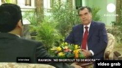 Мусоҳибаи Эмомалӣ Раҳмон бо Euronews