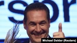 Вице-канцлер Австрии и лидер крайне правой Партии свободы Хайнц-Кристиан Штрахе. Иллюстраивное фото.