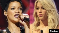 Two human rights groups are urging Rihanna (left) and Shakira to cancel their scheduled appearances in Azerbaijan this month.