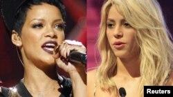 Rihanna (soldakı) və Şakira