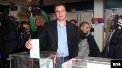 Aleksandar Vučić na izborima u martu 2014.