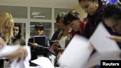 Քիշնեւի ընտրատեղամասերից մեկում ձայների հաշվարկը հանրաքվեից հետո, 5-ը սեպտեմբերի, 2010թ.