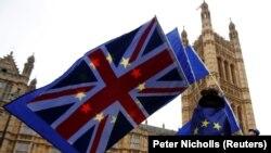 Brexit-ə etiraz edən kondunlu. 14 noyabr 2017
