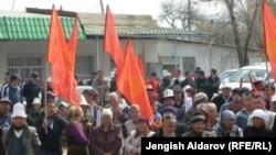 Баткенде 31-мартта өткөн митингге миңдей адам катышканы кабарланган