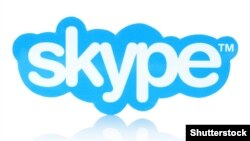 Generic -- Skype logotype printed on paper and placed on white background