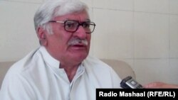 Peshawar:Asfandyar Wali Khan, leader of ANP talking to Radio Mashaal