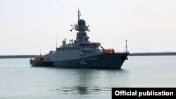 Rusiya hərbi gəmisi Bakı buxtasında. 23 iyul 2017