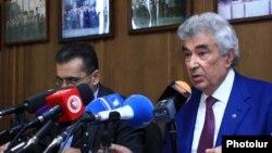 Пресс-конференция главы Конституционного суда Армении Гагика Арутюняна