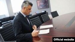 Kryeministri i Republikës së Kosovës, Hashim Thaçi.