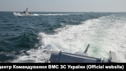 The Ukrainian Navy said the incident took place as three of its ships were transiting from the Black Sea port of Odesa to Mariupol . (file photo)