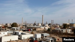 A general view of Baiji oil refinery, north of Baghdad