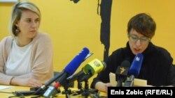 Dea Vidović i Selma Banić na konferenciji za tisak, 3. veljače 2015.