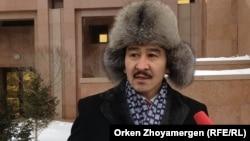 """Мақсат Ілиясұлы, """"Антигептил"""" ұйымының мүшесі. Астана, 13 қаңтар 2014 жыл."""