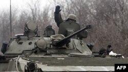 Украинские военные в районе города Артемовск Донецкой области