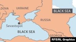 Черное море на карте.